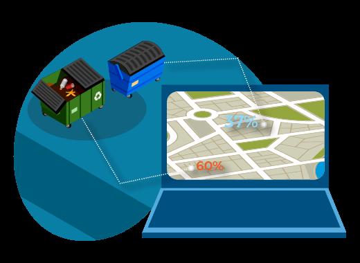 Мониторинга за наполнением мусорных баков